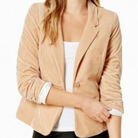 NWT   Kensie   Velvet One Button Blazer